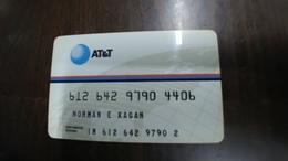 Att-credit Card-(set 174)-(9790-4406)-used+1card Prepiad Free - Geldkarten (Ablauf Min. 10 Jahre)