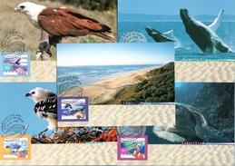 AUSTRALIA 1999 Fauna & Flora (3rd Series): Set Of 5 Maximum Cards CANCELLED - Maximumkarten (MC)