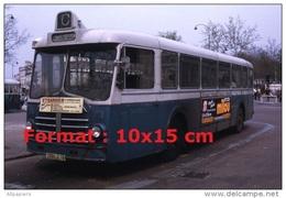 Reproduction D'une Photographie D'un Ancien Bus Berliet PCP10 Ligne C à Versailles En 1973 - Repro's