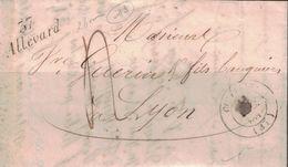 ISERE - 37 ALLEVARD - CURSIVE - LETTRE AVEC TEXTE ET SIGNATURE LE 11 DECEMBRE 1842 - (P1) - INDICE 11 - Marcophilie (Lettres)