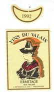 Rare // Etiquette // Vin Du Valais, Ermitage, J.Reynard & A.Duc, Savièse, Valais Suisse - Etiquettes