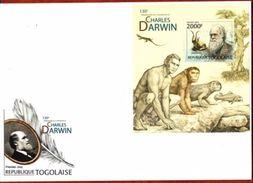 Togo, 130eme Anniversaire De La Disparition De Charles Darwin - Explorateurs