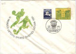 LITUANIA - Lithuania - Lietuva - 1991 - IV Pasaulio Lietuvių Sporto žaidynės - Krepšinis Vilnius - Kaunas - Lithuania