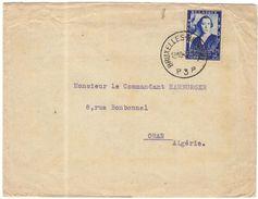 BELGIO - BELGIE - BELGIQUE - 1937 - 1,75 Reine Elisabeth - Viaggiata Da Bruxelles Per Oran, Algérie - Bélgica