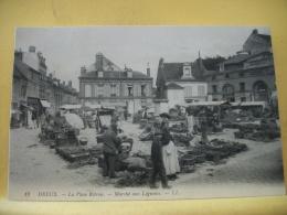 CO 9166 - CPA 1912 - 28 DREUX - LA PLACE ROTROU - MARCHE AUX LEGUMES - ANIMATION - Markets