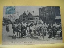 CO 9179 - CPA 1905 - 62 BERCK-PLAGE - LE MARCHE AUX ANES - ANIMATION ANES - Markets