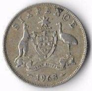 Australia 1963 6d [C601/2D] - Sixpence