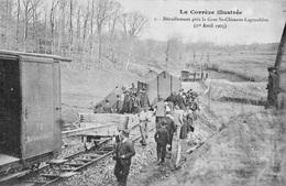 19 La Correze Illustrée, Déraillement Près De La Gare St Clément-la Grauliére, 1er Avril 1905 - Gares - Avec Trains