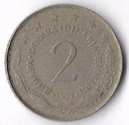 Yugoslavia 1977 2 Dinars [C605/2D] - Yugoslavia