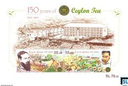 Sri Lanka Stamps 2017, Ceylon Tea, 150 Years, Train, Ship, MS - Sri Lanka (Ceylon) (1948-...)