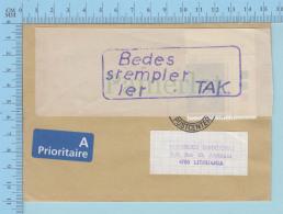 Danmark -  Bedes Atempler 1er Tak,  PPJ, FDC, Cover Kobenhains Postcenter  To Lituania, Prioritaire A - Danemark