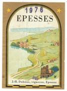 Rare // Etiquette // Epesses 1976, J.H. Duboux, Epesses,Vaud,Suisse - Etiquettes
