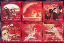 Ref. BR-2684 BRAZIL 1998 - CINEMA, CINEMATOGRAPH,, MOVIES, MI# 2882-87, SET MNH, FILM AND MOVIE 6V Sc# 2684 - Cinema