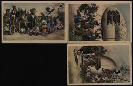 Ansichtskarte Vermenschlichte Tiere Hasen Vögel 3 Schöne Farb - Künstlerkarten - Ostern