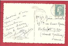 Y&T N° 418 ECHIERNACH   Vers  FRANCE 1957  2 SCANS - Brieven En Documenten