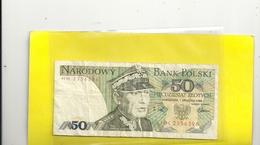 NARODOWY BANK POLSKI . 50 ZLOTYCH . 1 GRUDNIA 1988  N° HH 2356396 - Pologne