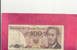 NARODDOWY BANK POLSKI . 100 ZLOTYCH . 1 GRUDNIA 1988  N° RN 4169617 - Pologne