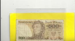 NARODDOWY BANK POLSKI . 500 ZLOTYCH . 1 CZERWCA -  N° FB 5374478 - Pologne