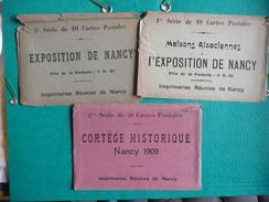 NANCY 1909 Exposition De L'ESt De La France 3 Enveloppes - Nancy