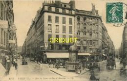 Paris, Rue Du Caire Et Rue D'Aboukir, Carte Pas Courante Affranchie 1910 - Arrondissement: 02