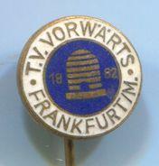 Handball, Balonmano - T.V. VORWARTS Frankfurt / M. Germany, Vintage Pin, Badge, Abzeichen, Enamel - Handball