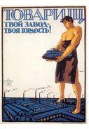 "THEME; GRANDE RUSSIE - ILLUSTRATEUR - CPSM - RARE édition FORNEY - ""TON USINE EST TA FIERTE "" - AFFICHE PROPAGANDE- TB** - Russland"