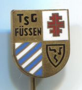Volleyball, Pallavolo - TSG FUSSEN, Germany, Vintage Pin Badge, Abzeichen, Enamel - Volleyball