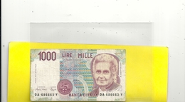 BANCA D'ITALIA . 1000 LIRE . 3-10-1990 . N° DA 686663 Y - [ 2] 1946-… : Républic