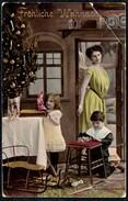 A7942 - Alte Lack Glückwunschkarte - Weihnachten - Tannebaum Kinder Coloriert - Arnochrom - Non Classificati