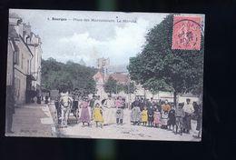BOURGES LA PLACE COLORISEE - Bourges