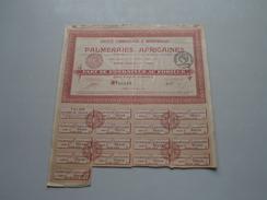 PALMERAIES AFRICAINES ( Paris ) Part De Fondateur Au Porteur N° 08,619 / 1920 ( Voir Photo Pour Detail )! - Aandelen