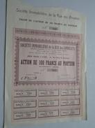 Société IMMOBILIERE De La Rue Des ANNELETS ( Paris ) Action De 100 Francs - N° 760 / 19.. ( Voir Photo Pour Detail )! - Actions & Titres