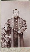 PHOTO CDV  MILITAIRE SOLDAT ET SA GUIMBARDINE    Cabinet GRIANTA A MONTLUCON - Guerre, Militaire