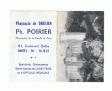Calendrier De Poche - 1969 ( 2 Pièces) Et 1970 - Pharmacie De Doulon Ph. Poirier à NANTES - Château De Falaise (fr55) - Calendriers
