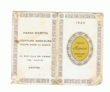 """Calendrier De Poche - 1964 - Pierre Martin, Coiffeur à NANTES - Parfum """" Espace """"Cheramy Paris (fr55) - Calendriers"""