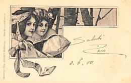 [DC10971] CPA - BELLA CARTOLINA ILLUSTRATA AUGURALE - Viaggiata 1900 - Old Postcard - Cartoline