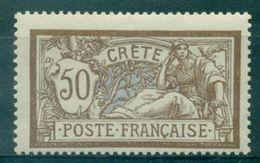 CRETE N°12 Nxx 50 C MERSON TB.tirage : 1200 Ex.rare Cote :35 €. - Unused Stamps