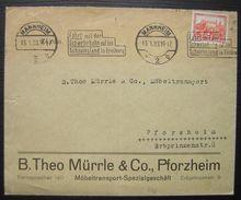 Pforzheim 1933 B. Theo Mürrle & Co Möbeltransport Spezialgeschäft (deutsches Reich) - Allemagne