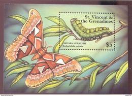 ST.VINCENT  3002 MINT NEVER HINGED SOUVENIR SHEET OF BUTTERFLIES  #  731-4  ( - Butterflies