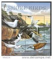 ST.VINCENT   3018 MINT NEVER HINGED MINI SHEET OF SHORE BIRDS   #   M-790  ( - Birds