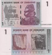 ZIMBABWE   1 Dollar P65    Dated   Harare  2007   UNC. - Zimbabwe