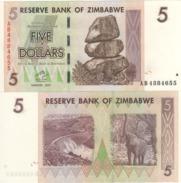 ZIMBABWE   5 Dollars  P66    Dated   Harare  2007   UNC. - Zimbabwe