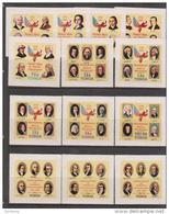 Tonga 1976 USA Bicentennial / Declaration Of Independence Self Adhesive Set 13 MNH - Tonga (1970-...)