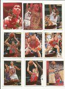 BASKETBALL NBA LOT DE CARTES CHICAGO BULLS - Trading Cards