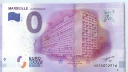 2016 BILLET TOURISTIQUE 0 Euro Billets  Marseille    Dpt 13   Port 1.30 Numero Aleatoire - Essais Privés / Non-officiels