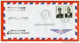 T.A.A.F N°46/47 DE GAULLE SUR LETTRE DES KERGUELEN DU 15/11/1973 - Terres Australes Et Antarctiques Françaises (TAAF)