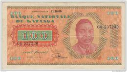 B00420  KATANGA 100 Francs TSHOMBE - TTB/TB - Unclassified