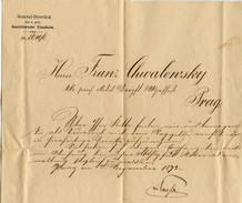Buschtehrader Eisenbahn Railway Document 1872 B171025 - Tickets - Vouchers