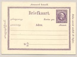 Nederlands Indië - 1874 - 5+5 Cent Willem III, Briefkaart G2a, Ongebruikt  - H&G 3 - Indes Néerlandaises