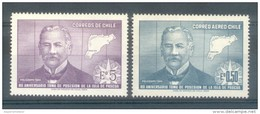 CHILI CHILE - 80 ANIVERSARIO DE LA POSESION DE LA ISLA DE PASCUA - COMANDANTE POLICARPO TORO Y MAPA DE LA ISLA - Rapa Nui (Ile De Pâques)